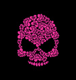 Skull of roses on a black background Flower skull vector image