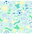 sports seamless pattern vector image vector image