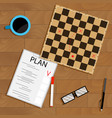 tactic and strategy business plan vector image vector image