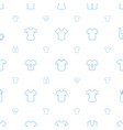 tee icons pattern seamless white background vector image vector image