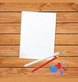 template for valentines day with clean notepad vector image vector image