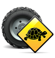 Tractor Wheel with Sign vector image vector image