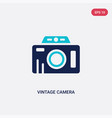 two color vintage camera icon from airport vector image