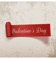 Valentines Day realistic scroll textile Ribbon vector image vector image