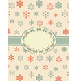 vintage christmas background border vector image vector image