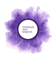Watercolor circle hand paint on white background vector image vector image