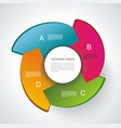 web banners design can be used for workflow vector image vector image