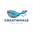 whale logo icon vector image