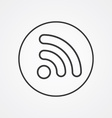 WiFi outline symbol dark on white background logo vector image vector image
