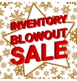 Winter sale poster with INVENTORY BLOWOUT SALE vector image