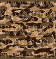 seamless pattern with soldiers on camouflage vector image