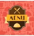 Restaurant menu background in flat design style vector image