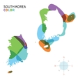 Abstract color map of South Korea vector image vector image
