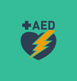 Aed automated external defibrillator logo
