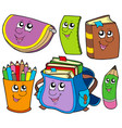back to school collection 5 vector image vector image