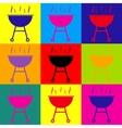 Barbecue simple icon vector image vector image