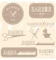 barber logo vector image