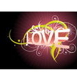 Beautiful love background vector image vector image