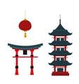 Beautiful travel landmarks chinese temple vector image
