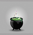 black witch steaming pot cauldron with green vector image