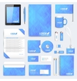 Blue set of corporate identity template vector image
