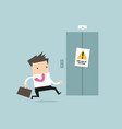 businessman are running to elevator vector image