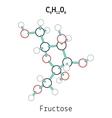 C6H12O6 Fructose molecule vector image vector image