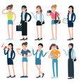 cartoon girls and women characters vector image vector image