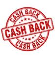cash back red grunge round vintage rubber stamp vector image
