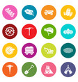 coal mine icons set colorful circles vector image vector image