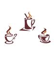 coffee symbols vector image vector image