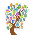 colorful easter eggs tree vector image