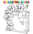 coloring book kids theme 3 vector image vector image