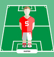 Computer game Austria Soccer club player vector image vector image