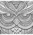 Decorative ornamental Owl background vector image