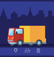 delivery truck logistic service isolated icon vector image vector image