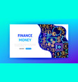 finance neon landing page vector image