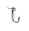 fishing hook and fish design template vector image vector image