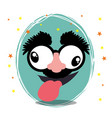 funny face fools day design vector image vector image