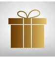 Gift box sign Flat style icon vector image vector image