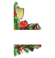 Glass of champagne with Christmas ball vector image