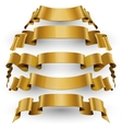 Gold Glossy ribbons set vector image vector image