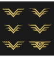 Golden Wings emblem vector image vector image