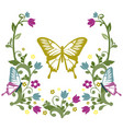 graphic element butterfly with flourishes 3 vector image