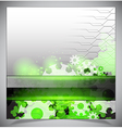 Green and white modern futuristic background vector image