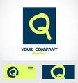 Green blue letter q logo