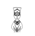 head of egyptian queen cleopatra vector image vector image