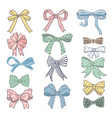 holiday bows and ribbons in cartoon style vector image