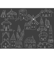 House chalk vector image vector image