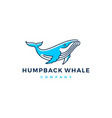 humpback whale logo icon vector image